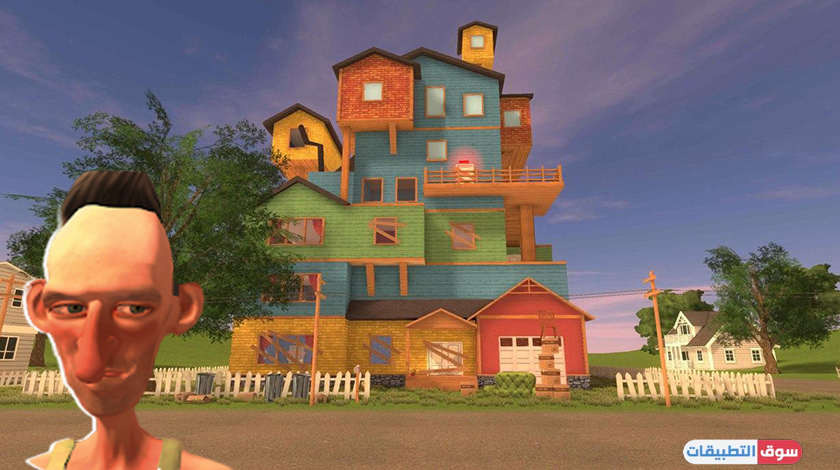 كن مغامر واستكشف الجار العصبي بعد تحميل لعبة Angry Neighbor للاندرويد مجانا