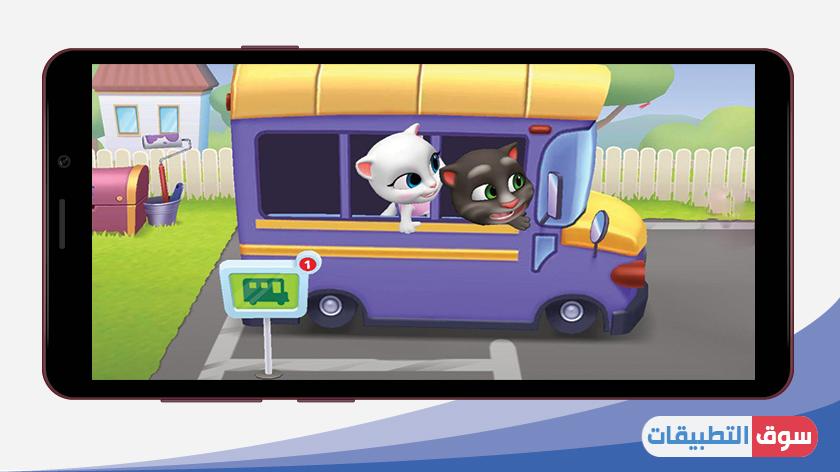التنقل في لعبة اصدقاء توم المتكلم للموبايل