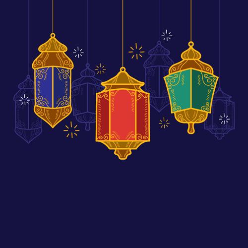 فوانيس رمضان رسم