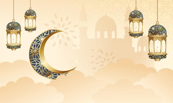 فوانيس رمضان مزخرفة للتهنئة