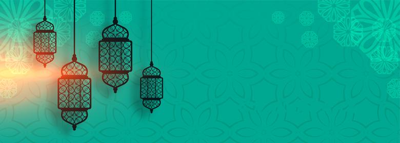 فانوس رمضان بطاقات تهنئة