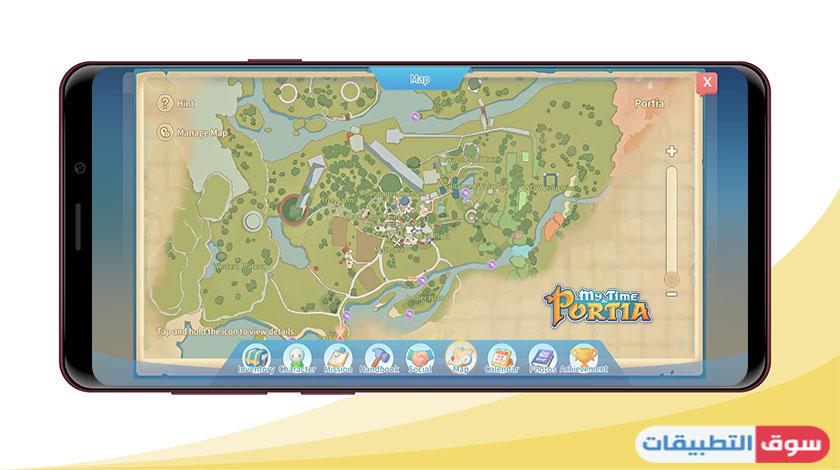 الاماكن الجديدة في خرائط عالم بورتيا المجاني للجوال apk